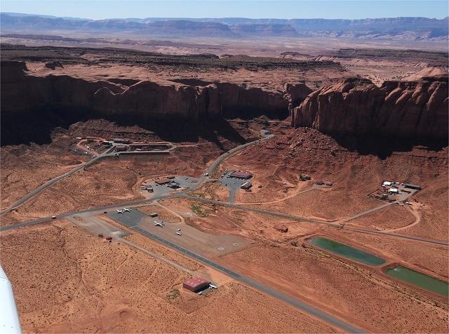 Monument Valley Airport - Land into the bluff and takeoff away from the bluff
