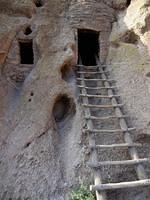 Ladder into a cliff dwellintg
