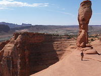 Edge of the mesa next to Delicate Arch