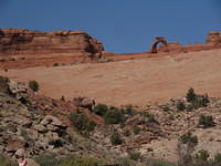 Delicate Arch from the valley if you don't want to hike there