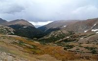 Down the valley from Alpine Visitor Center - Chapin peak on left