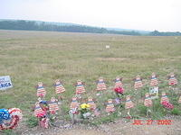 Shanksville PA - site of <a href=http://www.flt93memorial.org>Flight 93 temporary memorial</a>.