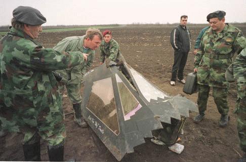 F-117 Shot Down Bosnia
