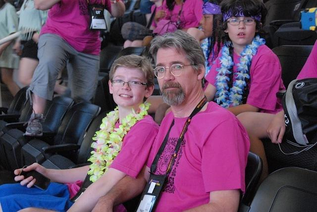 It was Stu's year to travel to Globals with Nathan!
