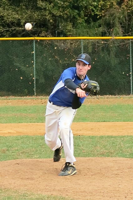 Flint (now in 11th grade) pitching