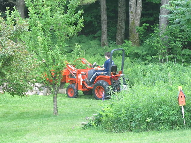 Flint's first run with the Kubota