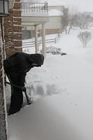 "We shovelled 6"" the night before the big onset. Then Nathan took the first shovelful the next morning."