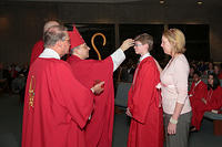 Nathan got confirmed in May, with Aunt Mary Teahan as his sponsor