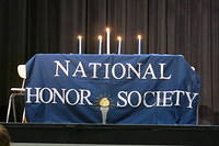 Flint was inducted into the National Honor Society