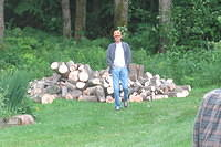 Dad and his wood pile