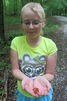 Julia and a red eft